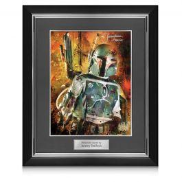 Boba Fett Signed Star Wars Poster: Bounty Hunter In Deluxe Frame