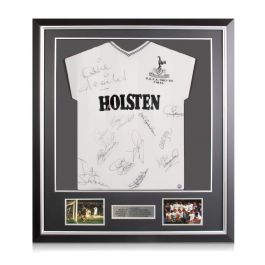 Tottenham Hotspur 1984 UEFA Cup Squad Signed Football Shirt In Deluxe Frame