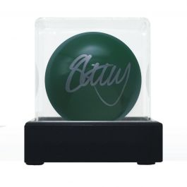 Stephen Hendry Signed Green Snooker Ball. In Display Case