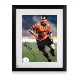 Steve Bull Signed Wolves Photo Framed