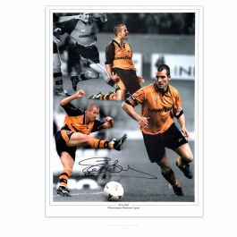 Steve Bull Signed Wolves Photo: Wolves Legend