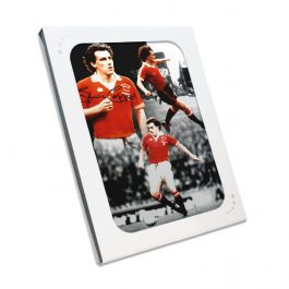 Steve Coppell Signed Manchester United Montage In Gift Box