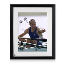 Steve Redgrave Signed Rowing Photo: Five Time Olympic Champion. Framed