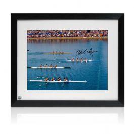 Sir Steve Redgrave Signed And Framed Photo: Sydney Photo Finish