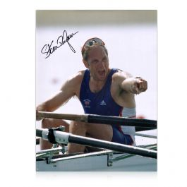 Sir Steve Redgrave Signed Photo: Five Time Olympic Champion