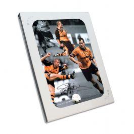 Steve Bull Signed Wolves Photo: Wolves Legend In Gift Box
