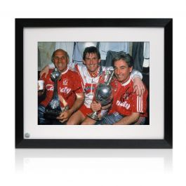 Roy Evans And Ronnie Moran Signed Liverpool Photo: The Boot Room Framed