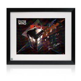 Tom Baker Signed And Framed Dr Who Tardis Poster
