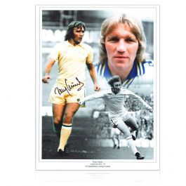 Tony Currie Signed Leeds United Photo