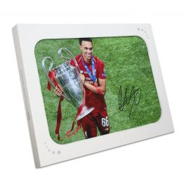 Trent Alexander-Arnold Signed Liverpool Photo: Champions League Celebration Gift Box