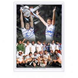 West Ham 1980 FA Cup Final Montage Signed By Sir Trevor Brooking And Billy Bonds