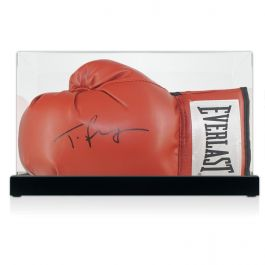 Tyson Fury Signed Red Boxing Glove In Display Case