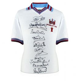 West Ham United Football Shirt Signed By The 1980 FA Cup Winning Squad