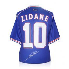 Zinedine Zidane Signed France 1998 Football Shirt