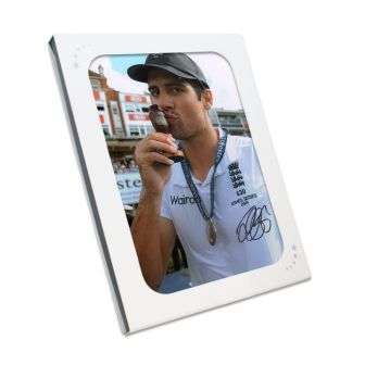 Sir Alastair Cook Signed Cricket Photo: Ashes Winner. In Gift Box