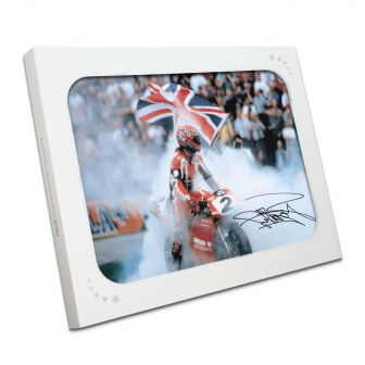Signed Carl Fogarty Photo in Gift Box