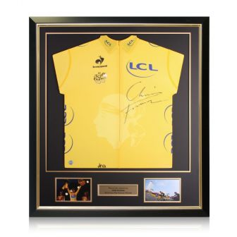 Chris Froome Signed Tour De France 2013 Yellow Jersey. Deluxe Frame