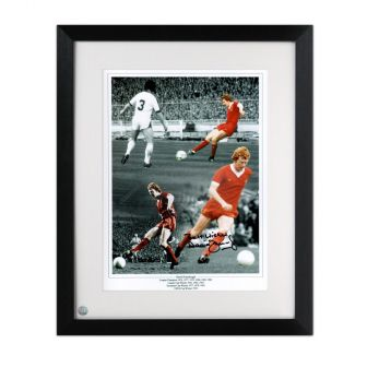 David Fairclough Signed Liverpool Photo Framed