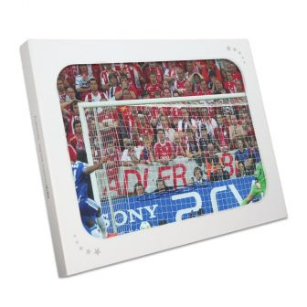 Didier Drogba Signed Chelsea Photo: Champions League Penalty. In Gift Box