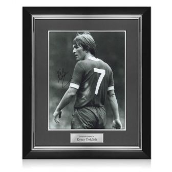 Kenny Dalglish Signed Photograph: The King's Debut. Deluxe Frame