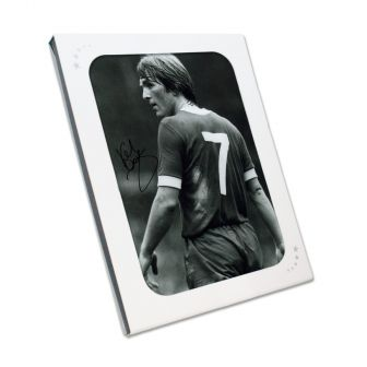 Kenny Dalglish Signed Photograph: The King's Debut. Gift Box