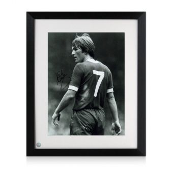 Kenny Dalglish Signed Photograph: The King's Debut. Framed