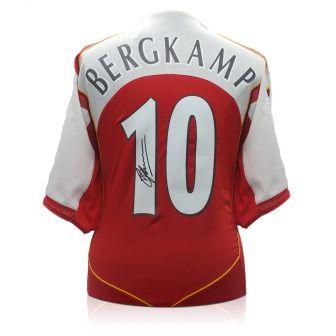 Dennis Bergkamp Signed Arsenal 2004-05 Home Shirt