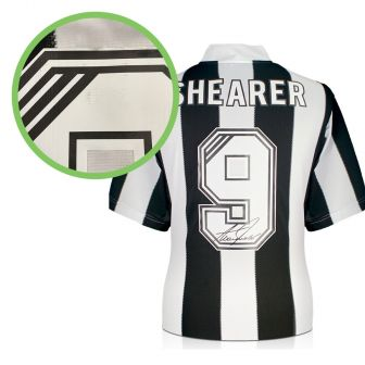Alan Shearer Back Signed Newcastle 1996 shirt