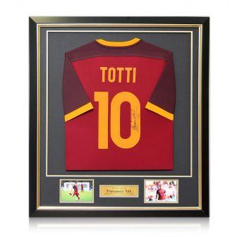 Framed Francesco Totti Signed Roma Shirt