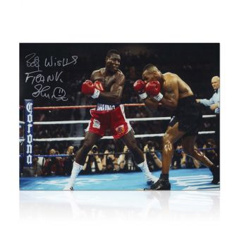 Frank Bruno Signed Boxing Photo: Fighting Iron Mike Tyson