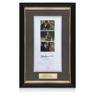 Ian Lavender Signed Dad's Army Print. Deluxe Framed