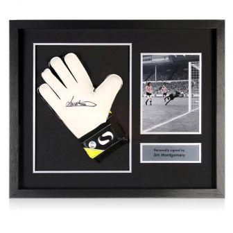 Framed Jim Montgomery Signed Glove
