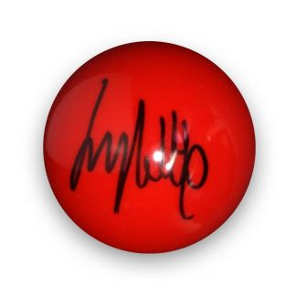 Jimmy White Signed Red Snooker Ball
