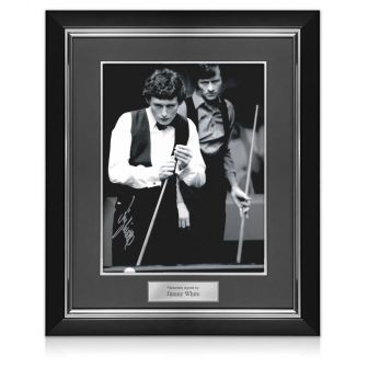 Jimmy White Signed Photo: World Snooker Championship Semi-Final. Deluxe Frame