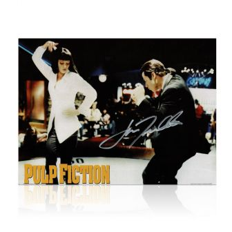 John Travolta Signed Pulp Fiction Poster: The Dance