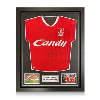 Kenny Dalglish Signed Liverpool 1989 Shirt. Standard Frame