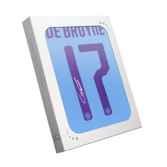 Kevin De Bruyne Signed Manchester City 2019-20 Shirt (European print). Gift Box