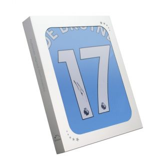Kevin De Bruyne Signed Manchester City 2019-20 Shirt. In Gift Box