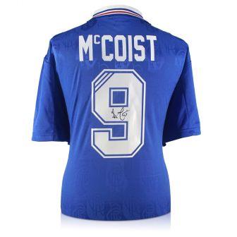 Ally McCoist Back Signed Rangers Shirt