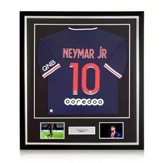 Neymar Jr Signed PSG 2020-21 Shirt. Deluxe Frame