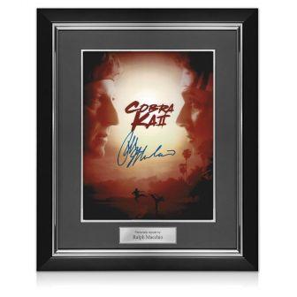 Ralph Macchio Signed Cobra Kai Season 2 Poster. Deluxe Frame