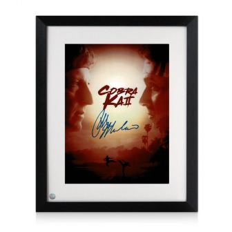 Ralph Macchio Signed Cobra Kai Season 2 Poster. Framed