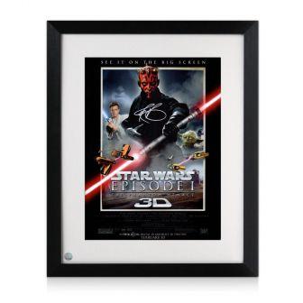 Darth Maul Signed Star Wars Poster: The Phantom Menace Framed