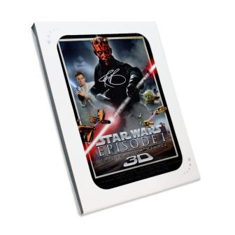Darth Maul Signed Star Wars Poster: The Phantom Menace In Gift Box