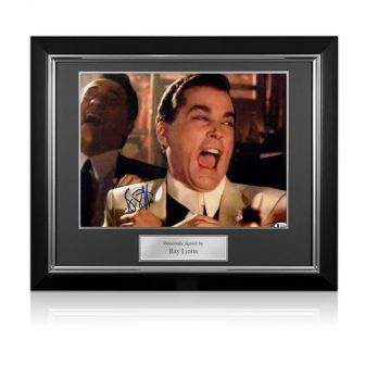 Ray Liotta Signed Goodfellas Photo: Funny Guy. Deluxe Frame