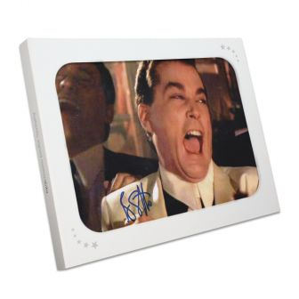 Ray Liotta Signed Goodfellas Photo: Funny Guy. In Gift Box