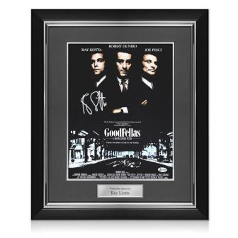 Ray Liotta Signed Goodfellas Poster. Deluxe Frame