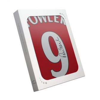 Robbie Fowler Signed Liverpool 2001 Shirt. Number 9. In Gift Box