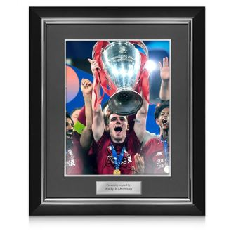 Andrew Robertson Signed Liverpool Photo: 2019 Champions League Winner Deluxe Frame