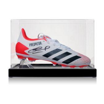 Steven Gerrard Signed Football Boot. In Display Case